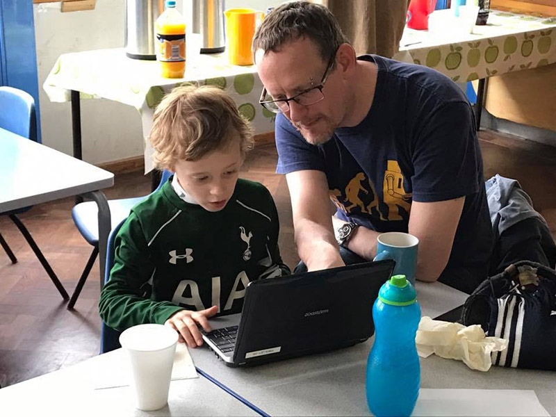 Techsafe father and son online safety training