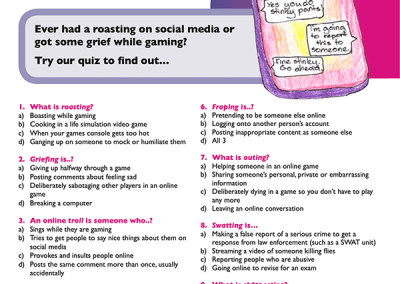 techsafe leaflet online safety cyberbullying quiz