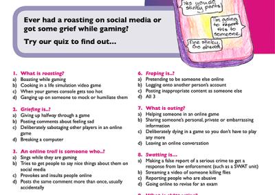 techsafe leaflet online safety cyberbullying quiz
