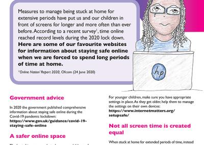 techsafe leaflet online safety during lockdown
