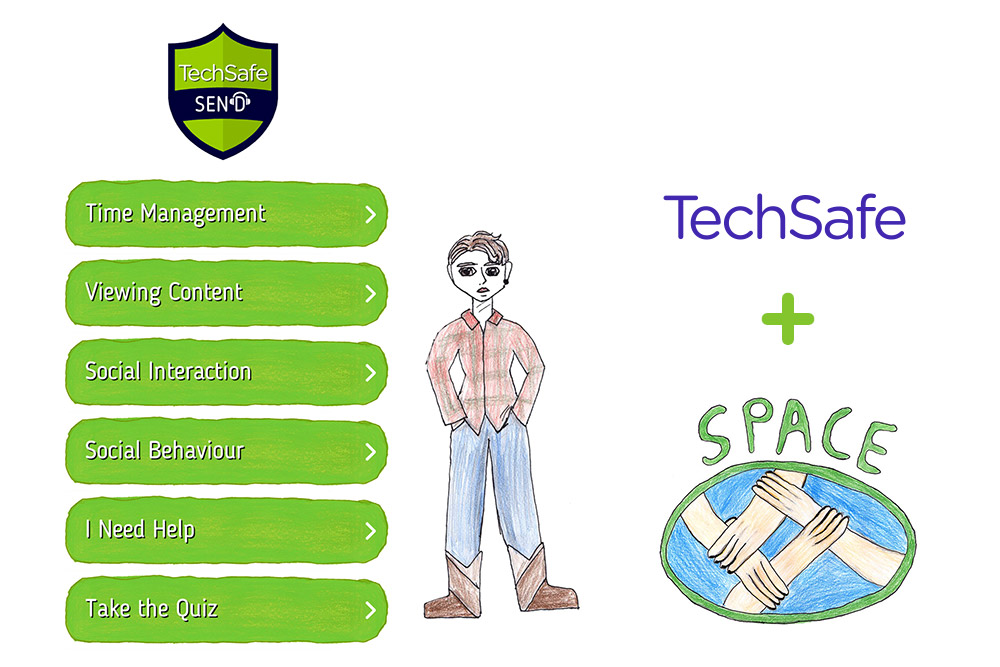 Techsafe and Space Send App