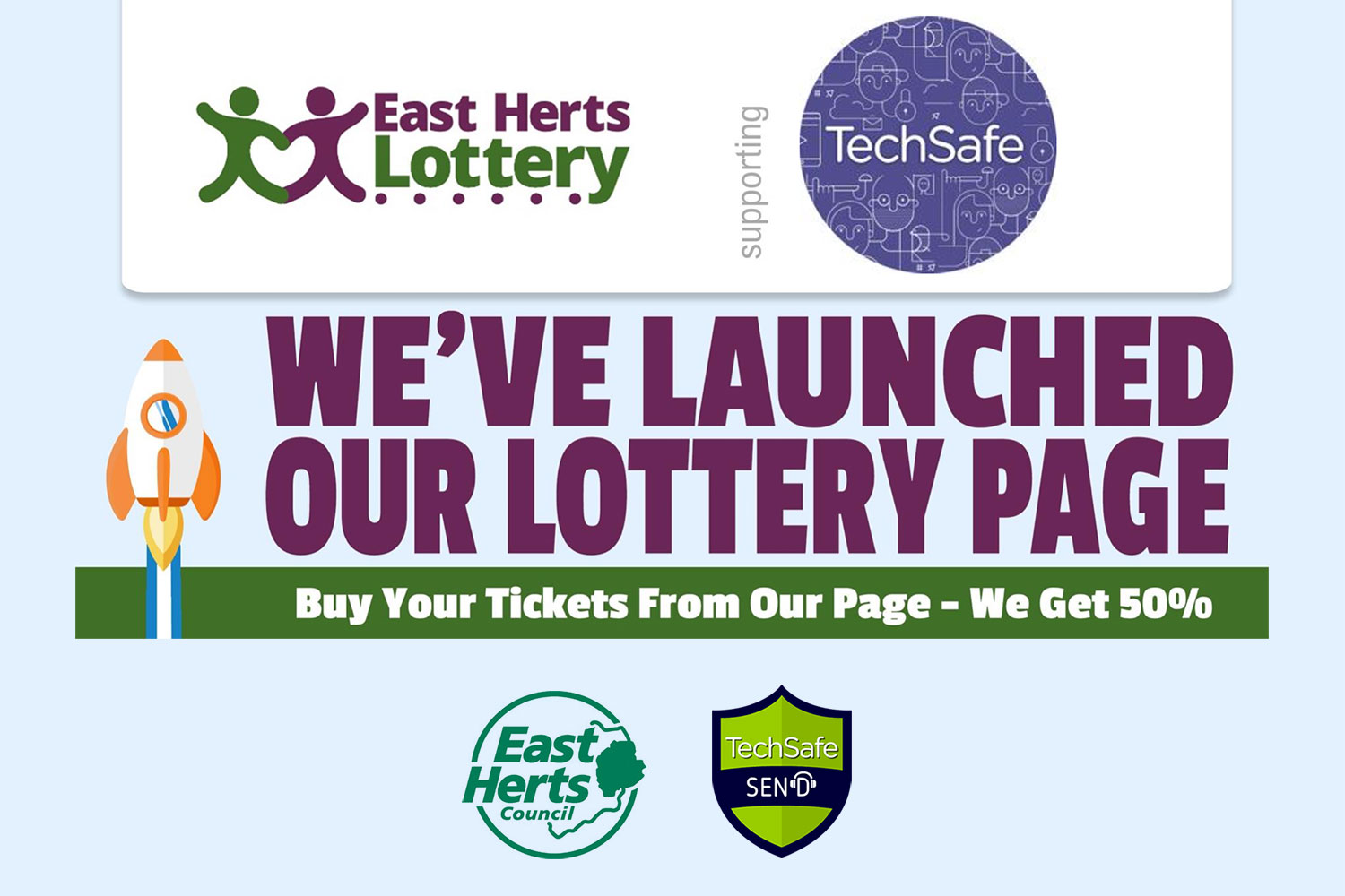 techsafe east herts lottery page